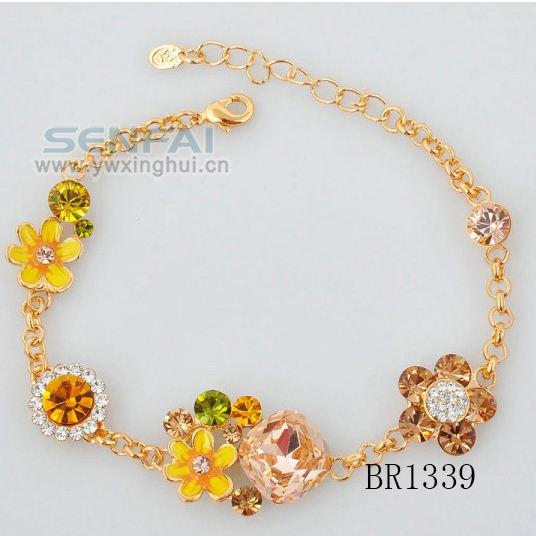A flor de ouro pulseira, pulseira charmosa
