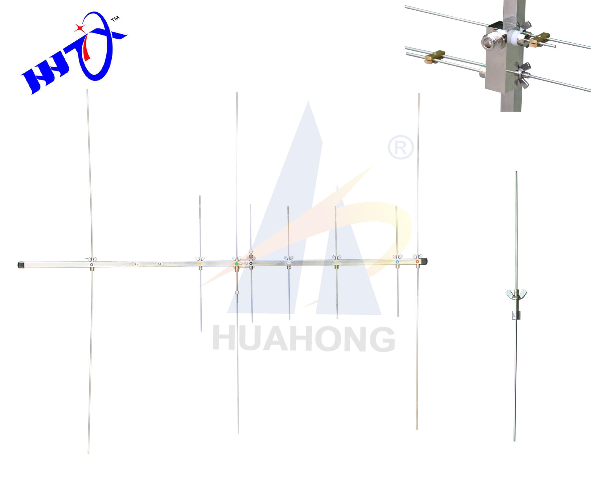 Outdoor directional Stainless steel Dual band VHF UHF 144/430 12db yagi radio antenna from China