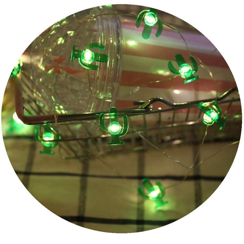 2M 20 LED Copper Wire String Lights LED Fairy Lights Christmas Wedding Decoration Lights Flamingo Cactus 5 Styles