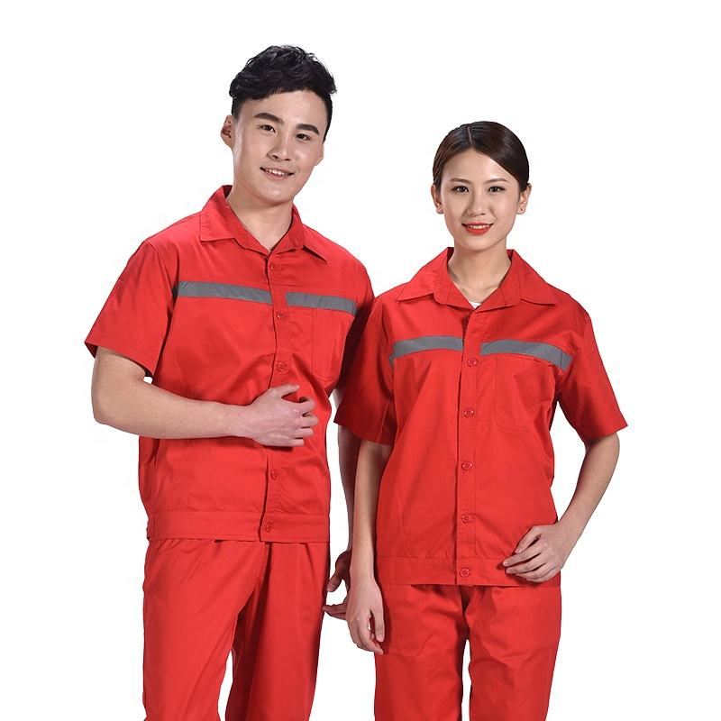 Short sleeve work clothes work wear dress for men
