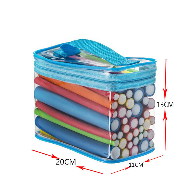 42 Stks/pak Flexibele Foam Bendy Rollers Magic Flexi Staven Haar Rollen met PVC Gift Pakket