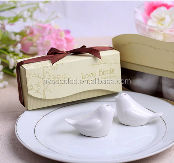 free shipping Love birds style salt and pepper shakers wedding door gifts for guests wedding favors gifts return gifts souvenir