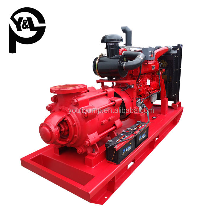 Diesel engine driven farm irrigation multistage high head centrifugal water pump