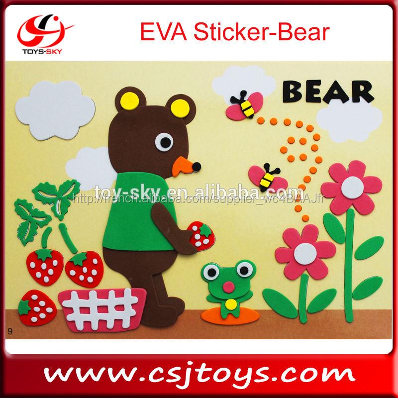 Jouets 2015 EVA autocollant ours jouet éducatif puzzle jeu