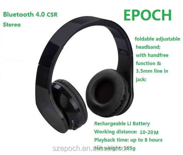 Lucido Bluetooth 4.0 delle cuffie bluetooth stereo s450
