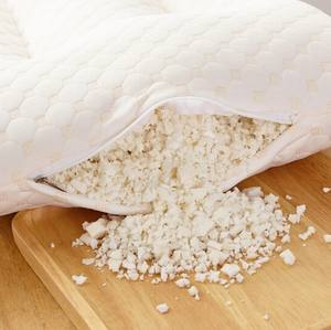 Hot selling latex shredded foam pillow with 100% organic cotton removable cover for pregnancy women KING SIZE