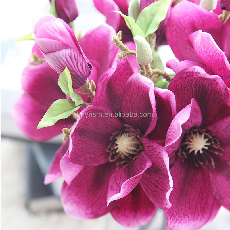 Yongnuo flower factory Home wedding decor silk orchid wholesale artificial hand work flowers