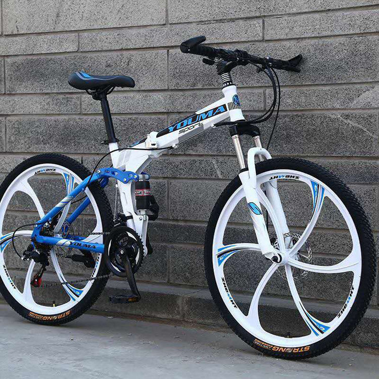china wholesale market one-wheel folding mountain bike/lightweight hi-ten folding bike mountain/custom bike for sale