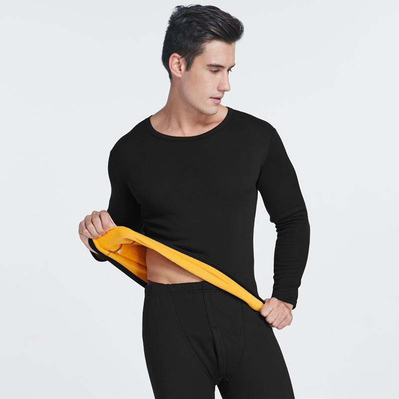 O neck polyester soft suits In-Stock thermal underwear for men