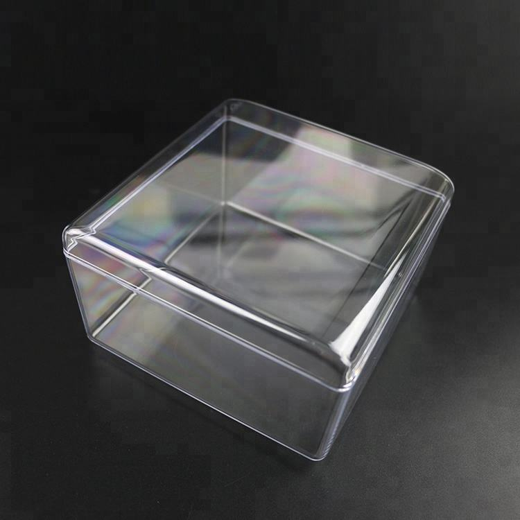 New design biodegradable food cake box for macaroon and pie biscuit cake plastic cookie box packaging