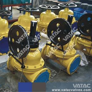 BS 5156 fully lined PFA Cast steel Flanged Ends Class 150 2~12 Weir Type Diaphragm Valve Supplier