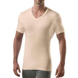 custom blank sweatproof t-shirt men's sweat proof undershirt with underram pads slim fit