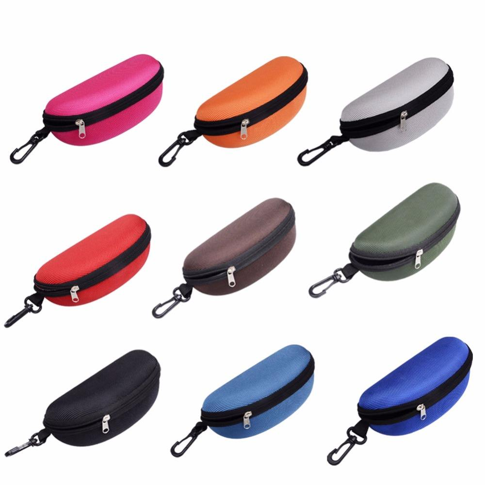 Exquisite Glasses Case Portatives Zipper soleil Lunettes de soleil Clam Shell Hard Case Protector Luxury Sunglasses Case