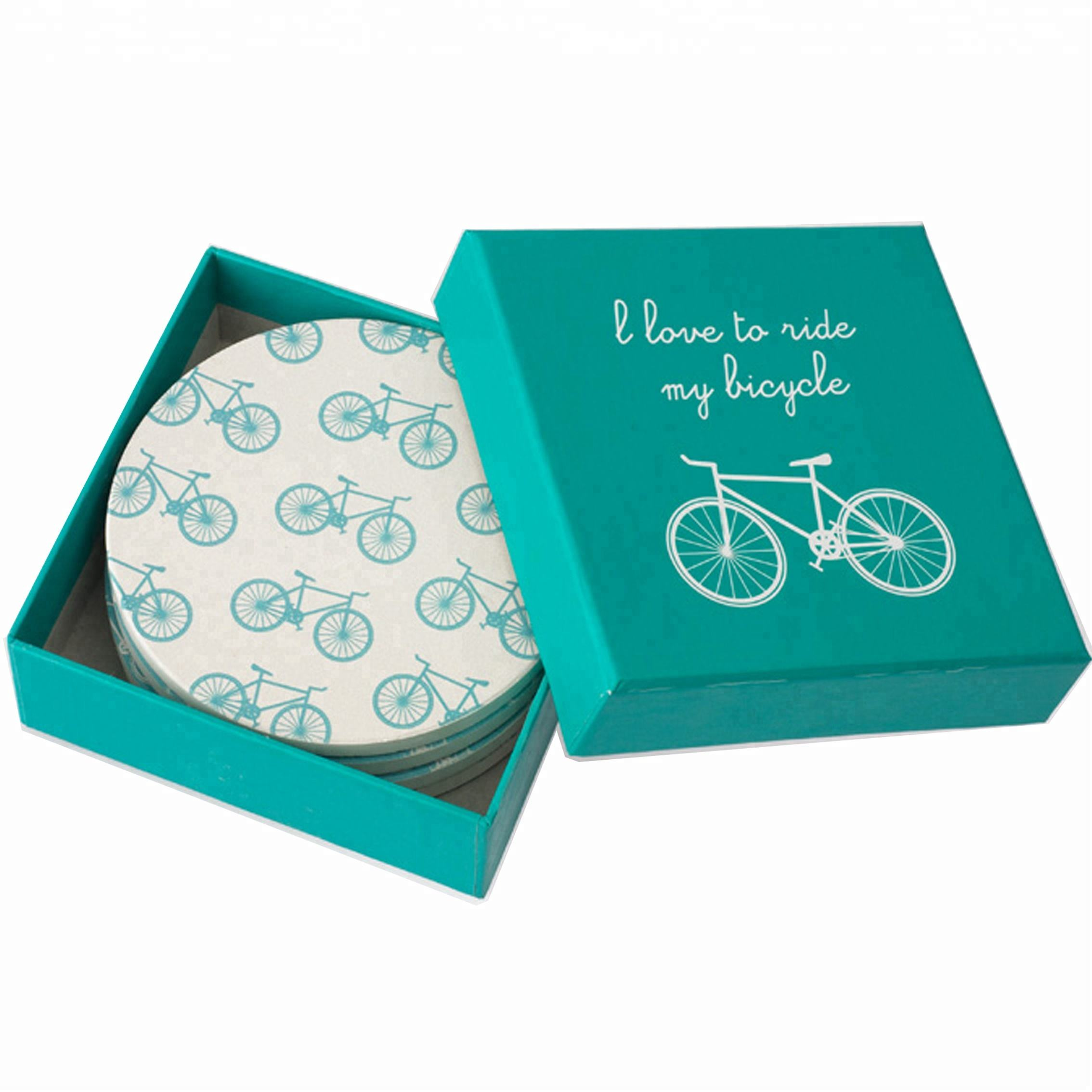 custom print matchbox style 4 pack coasters packaging paper gift boxes