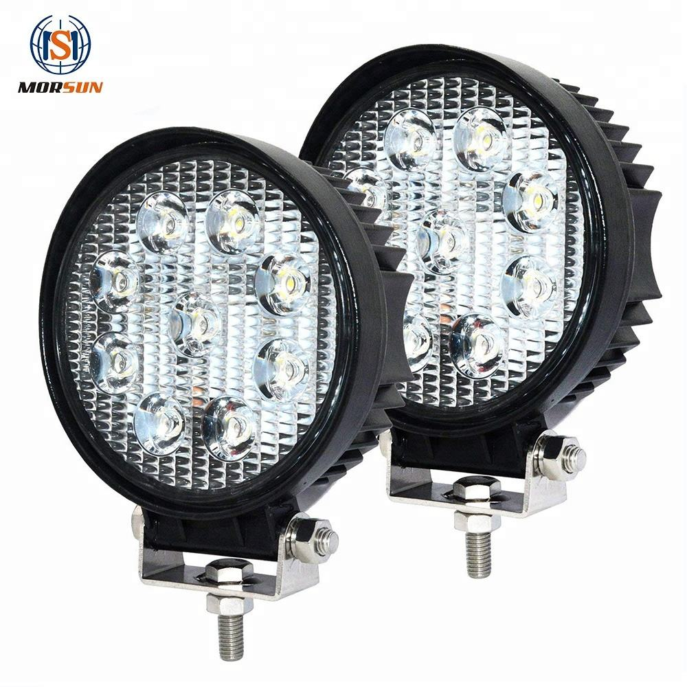 Car Top Led Work Light 27W Round Led Lamp Trucks Lights 2000LM High Lumens 4 inch Work Lamp 27W