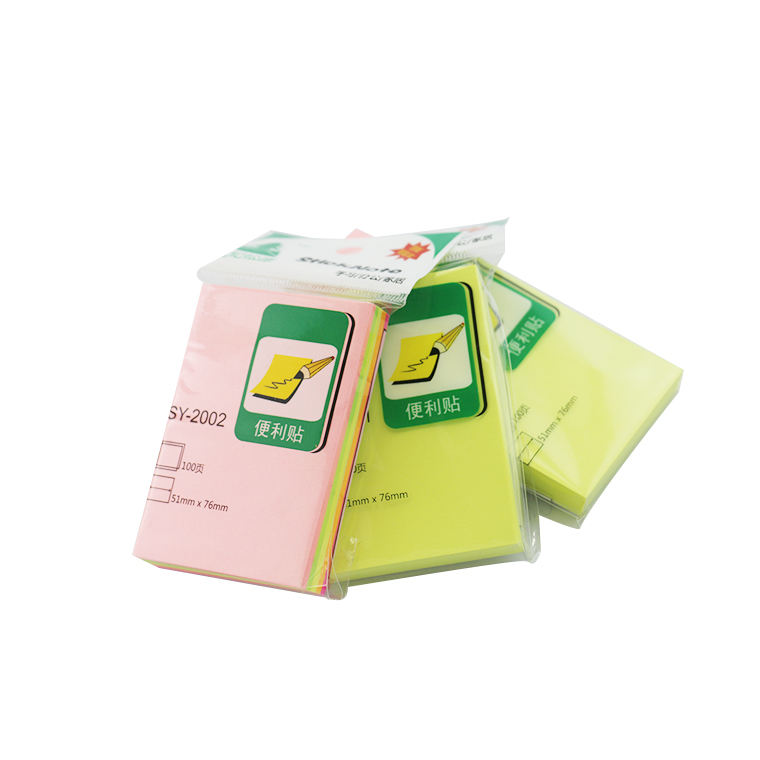 China Wholesale Hoge Kwaliteit 51*76mm Plastic Cover Sticky Note