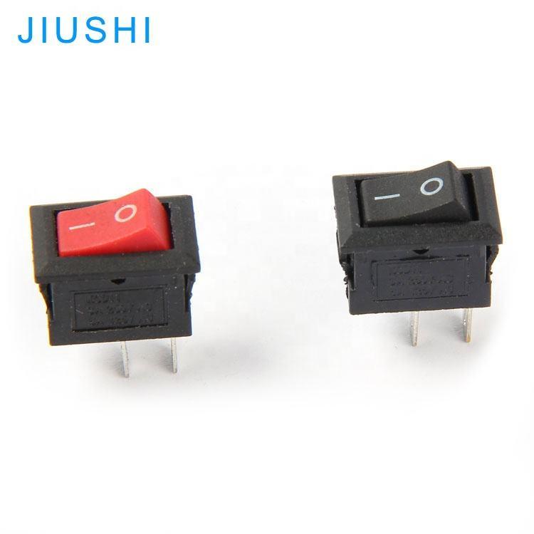 10X 10*15Mm Small Black Rocker Switch Kcd1-11 250Vac//3A 6A 125V Ac 2P Switche Sa
