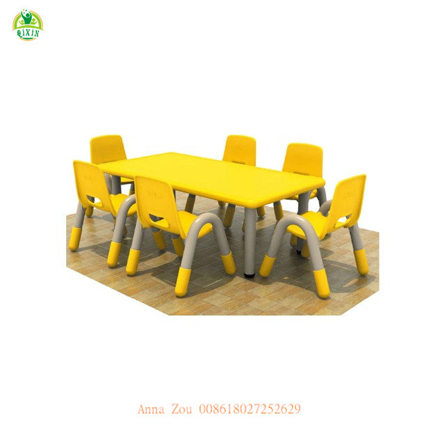 Kindergarten Furniture Children Tables Plastic Tables an Chairs for Kids (QX-193C)