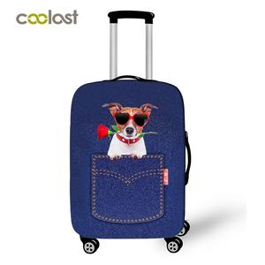 Coolost Pocket Huisdieren Animal Print Spandex Bagage Cover voor Samsonite Rimowa Travelling Case