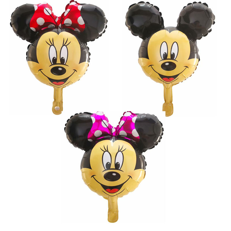 8 X Mezclado Mickey Minnie Mouse Goofy Globo Resina Flatbacks Adornos Craft