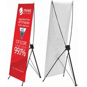 Exhibition Advertising Spider Roll Screen X Banner Stand Display