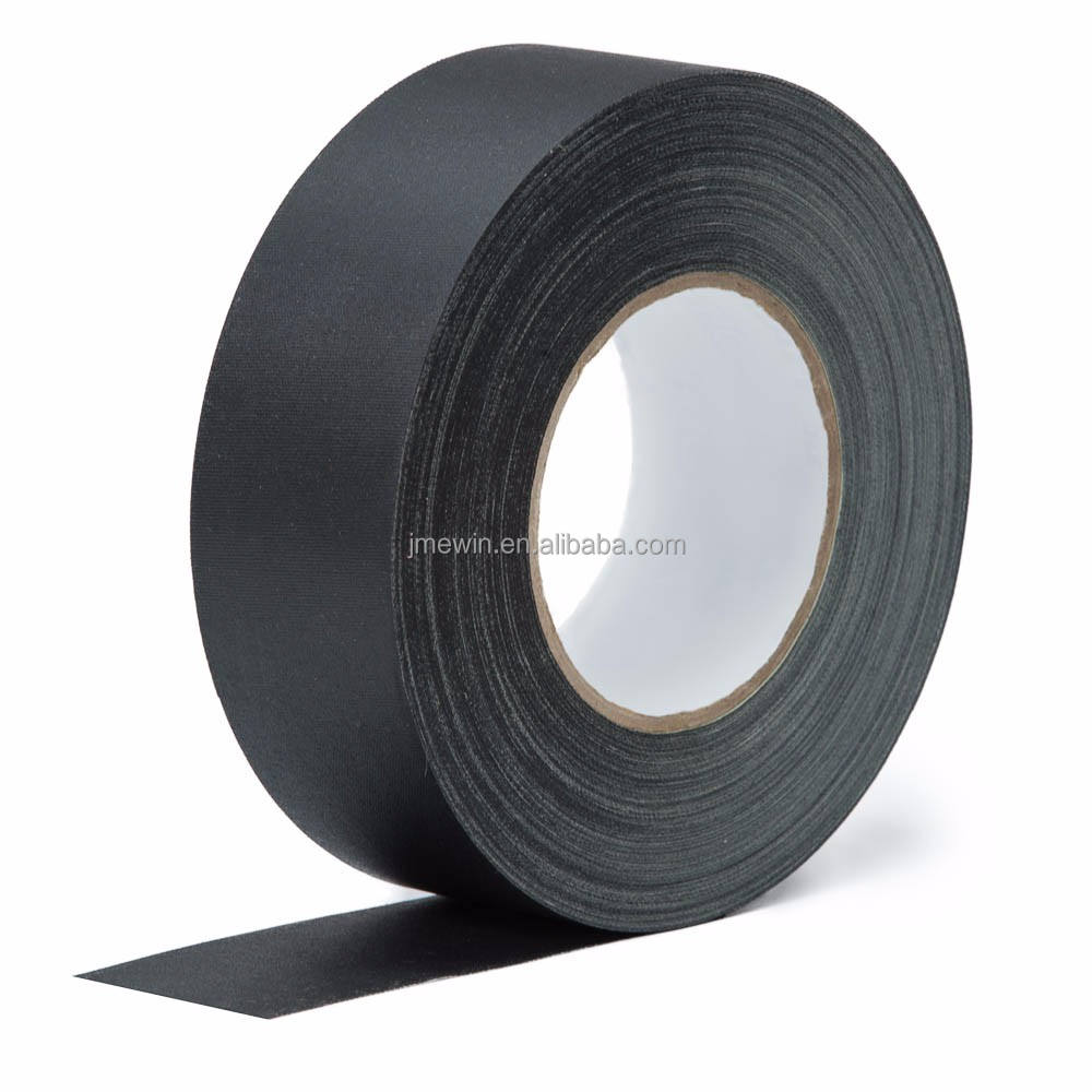 Free sample no residue single sided high adhesive heavy duty pro matte cloth book binding black gaffer tape