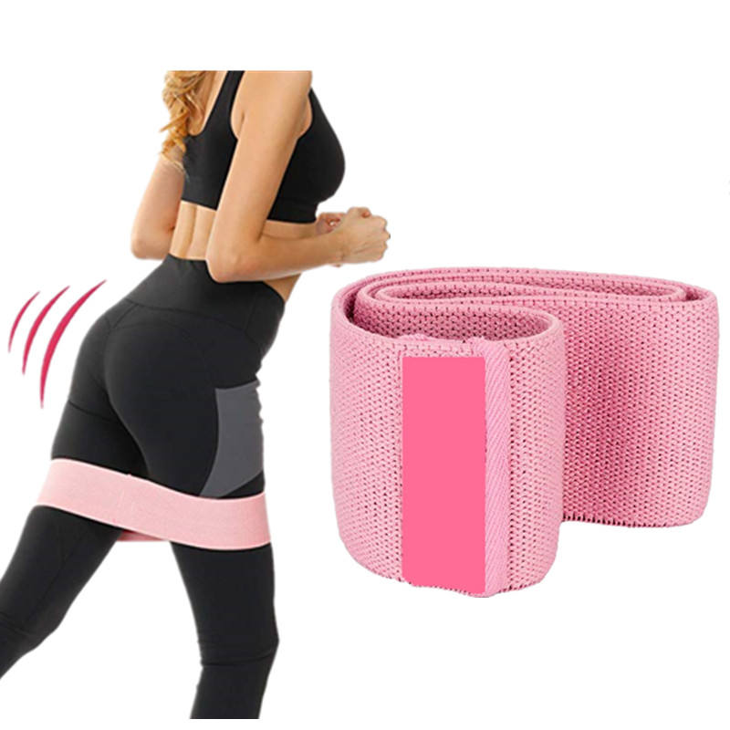 Latest Custom Printed Hip Circle Fabric Fitness Resistance Band Set with carrying bag