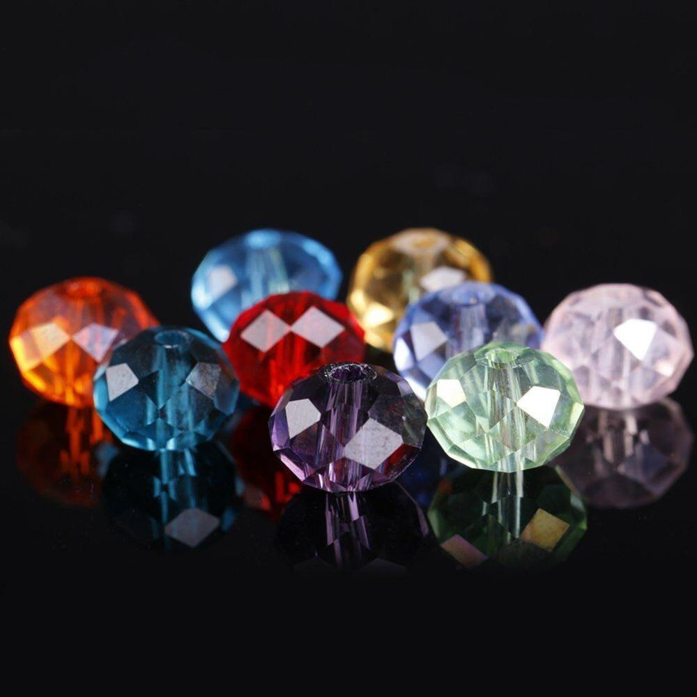 AAA Crystal Loose Beads Faced Glass Beads Crystal Rondelle Beads For Jewelry Making
