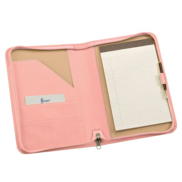 Diverse Kleuren Business Promotie Geschenken Rits Leather Fashion Padfolio