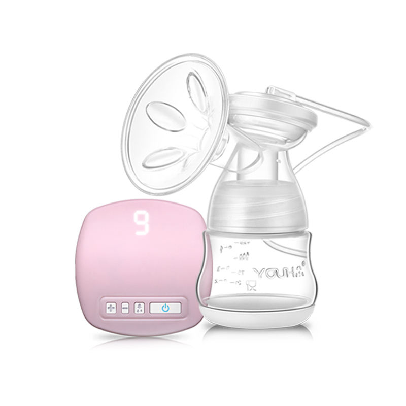 YOUHA Pink LED breast pump electric