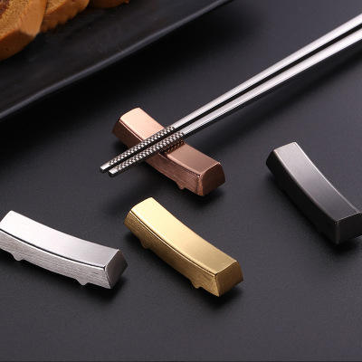 Korean Style Stainless Steel Chopstick and Spoon Rest Restaurant Chopstick Holder