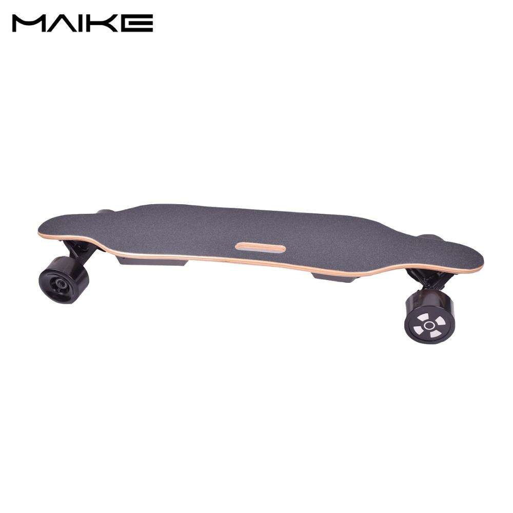 2018 the best boosted electric skateboard China factory direct maple and bamboo deck electric longboard
