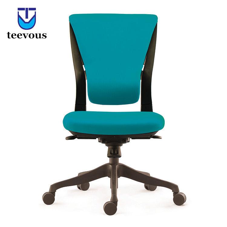 Al por mayor luz azul sin brazos barato personal silla pequeña rolling silla de oficina con base de nylon