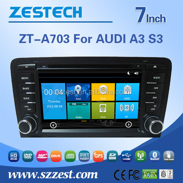 7 inch multimedia navigation system for Audi A3 s3 car video player car video with GPS DVD USB/SD AM/FM