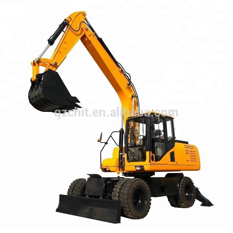 13.5 tons wheel excavator machine with cheap price for sale