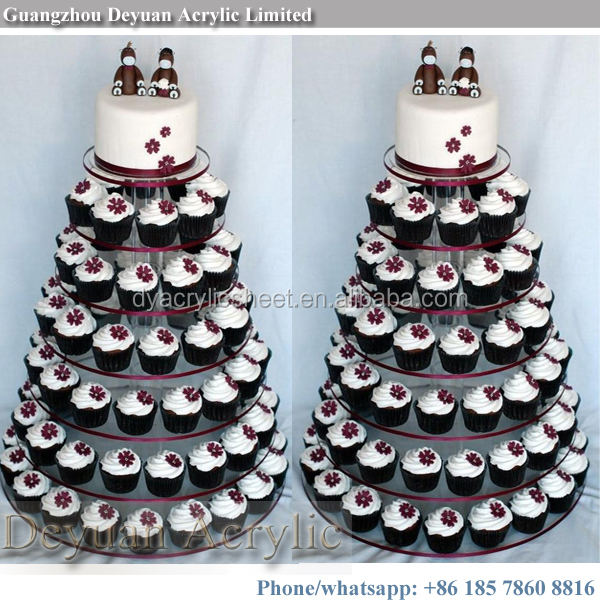 7 tier cupcake stand ACRYLIC cake stand for wedding cakes