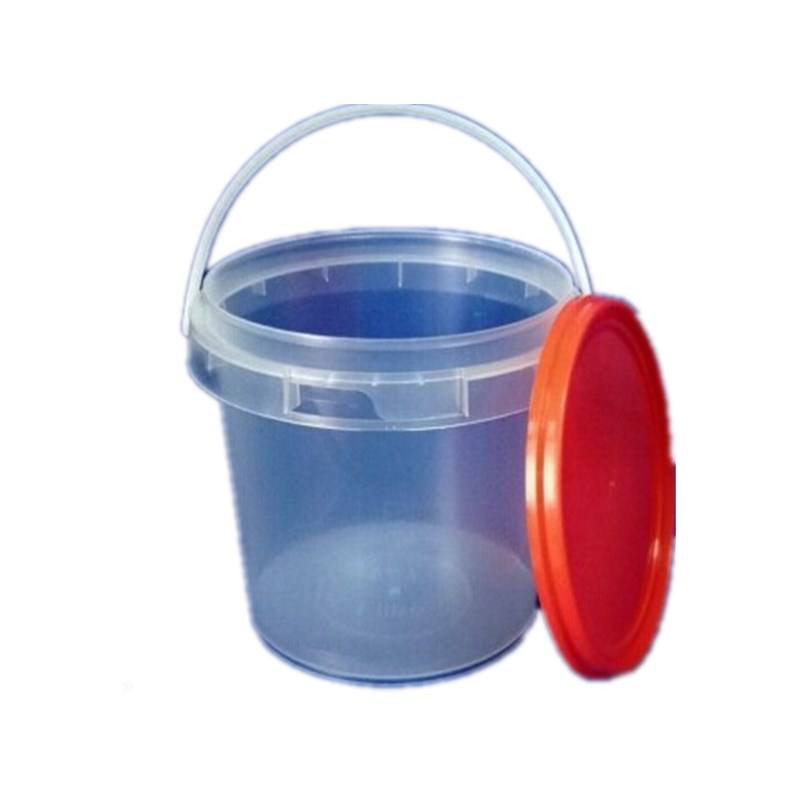 Hot Sale! 350ml 500ml 600ml 1L 1.2L 1.5L 2L 2.5L 4L 5L 6L 10L 15L 20L Plastic Bucket with Handle and Lid