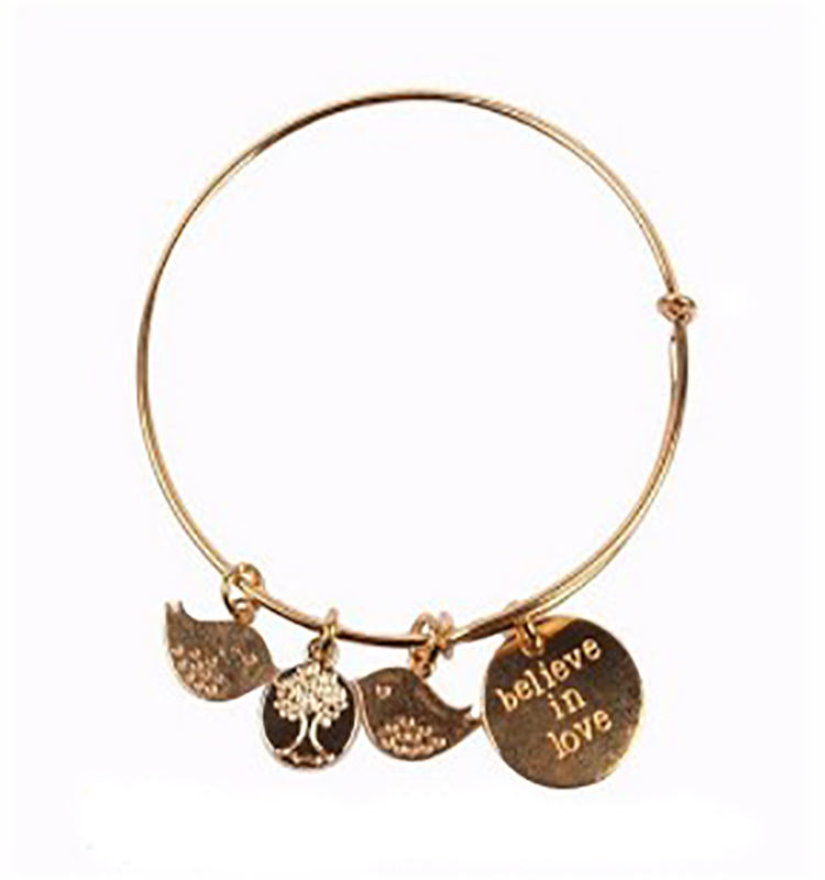 XP-MB-10147 Korean fashion jewelry latest design girls gold bangles