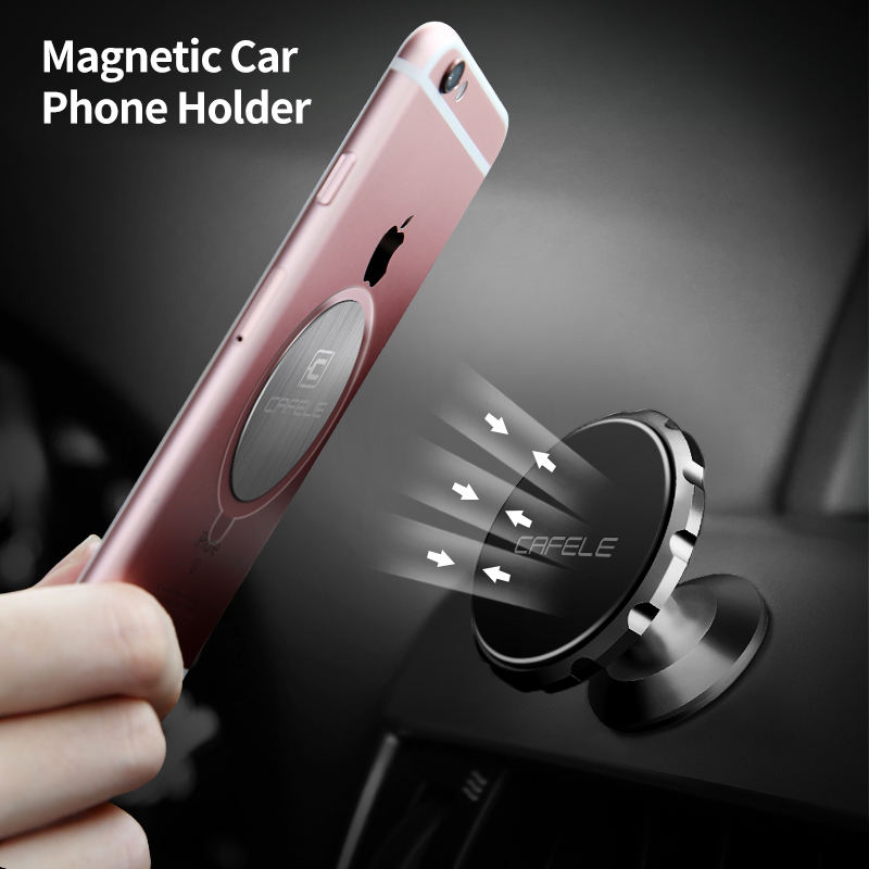 2018 Nuovo Outlet universial Piatto 360 gradi Cell Phone Magnetic Car Mount Phone Holder Stand per iphone Mini Titolare appiccicoso