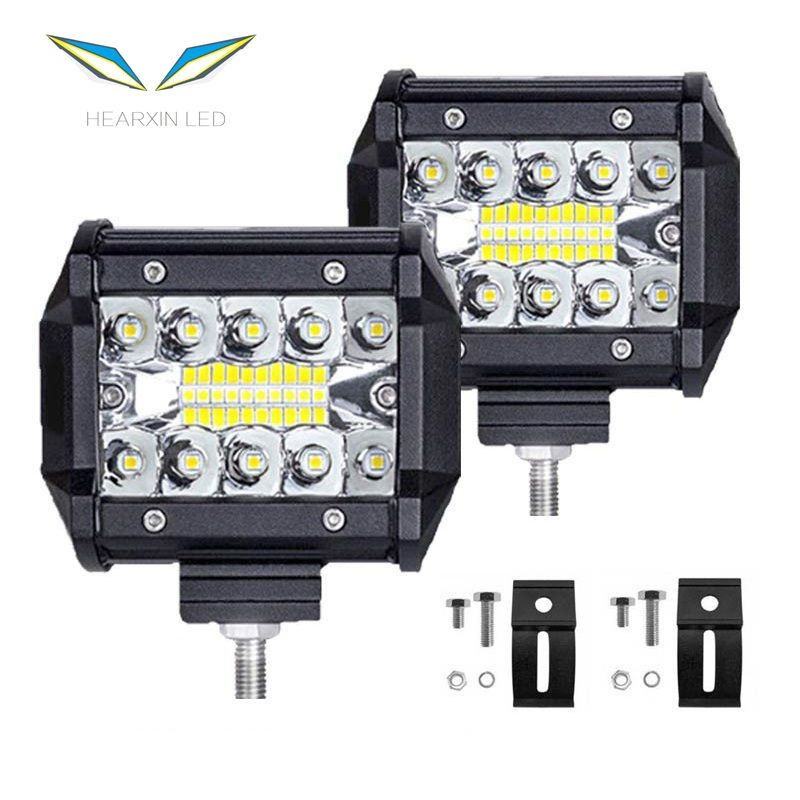 4x4 Fog Light Driving Light Lamp for Truck 12V Headlight for Boat 4 Inch 60W LED Work Light Bar Combo Offroad