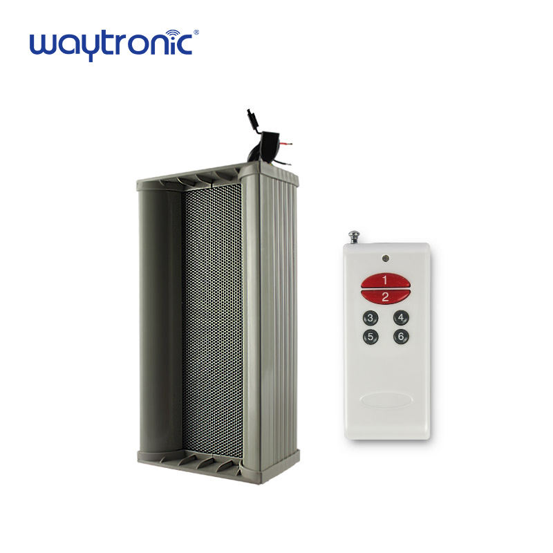 Passive [ Audio Speaker Amplifier ] 10w Outdoor Waterproof Motion Sensor Column Audio Loudspeaker Speaker With Built In Amplifier USB Programmable