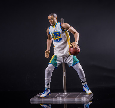 Customize NBA basketball Stephen Curry action figure