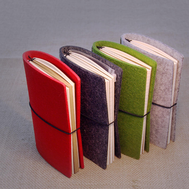 도매 A4 A5 A6 custom logo print felt cover journal school 일기 <span class=keywords><strong>노트북</strong></span> 와 탄성 로프 band
