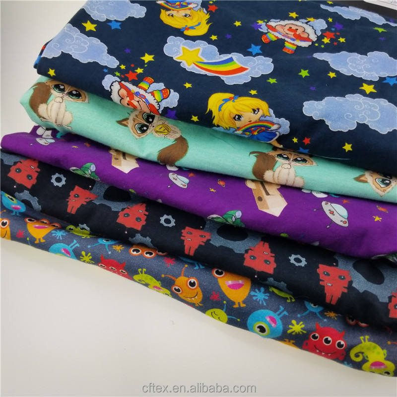 중국어 supplier custom digital printing 면 lycra fabric 대 한 kids