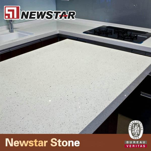 newstar artificiales de cuarzo blanco ktichen mesa de tamaño superior