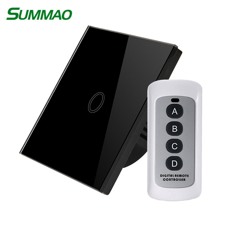 Disesuaikan Wholesalewireless 433 MHz Ponsel Remote Control Dinding Switch Board RF Control Dimmer Touch Switch