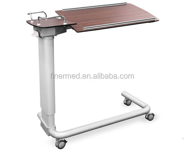 Hospital mobile Wheeled Overbed Table