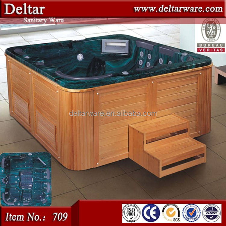8 personen outdoor Whirlpool tv spa, sexy massage batuth Layout, acryl Eck-Whirlpool