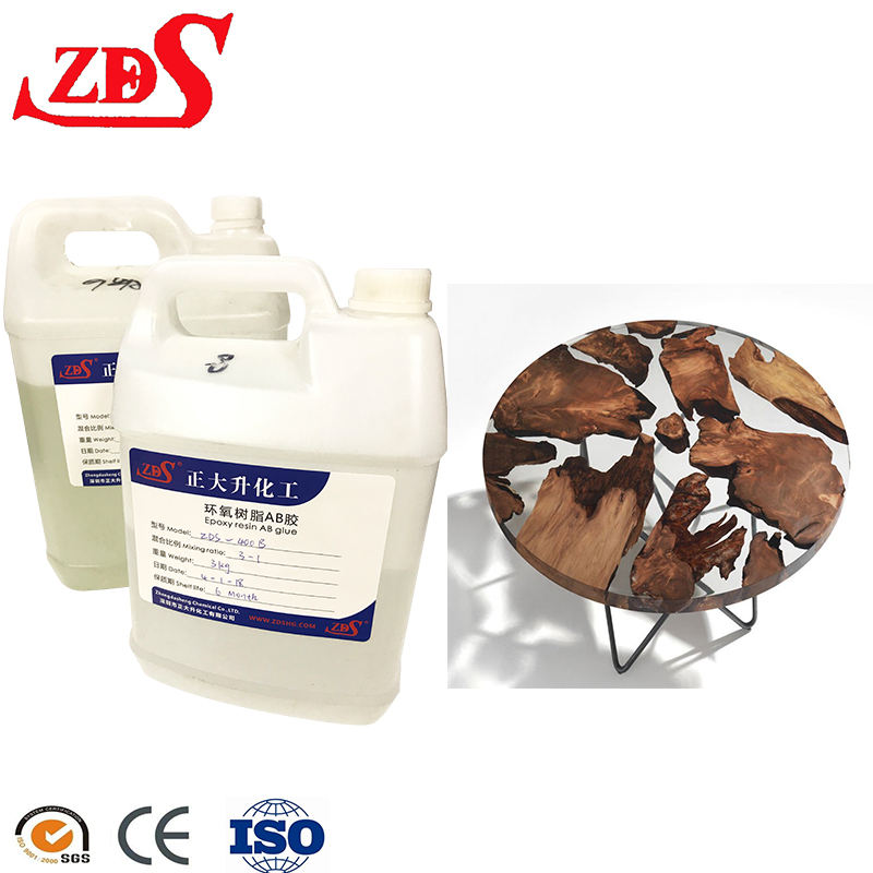 wholesale liquid glass bulk epoxy resin ab glue crystal clear for Bar Top Coating/3d floor