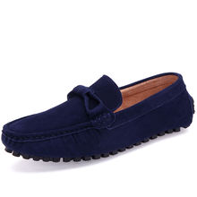 Men Soft Moccasin Driving Loafers Faux suede Leather Boat Shoes casual shoe